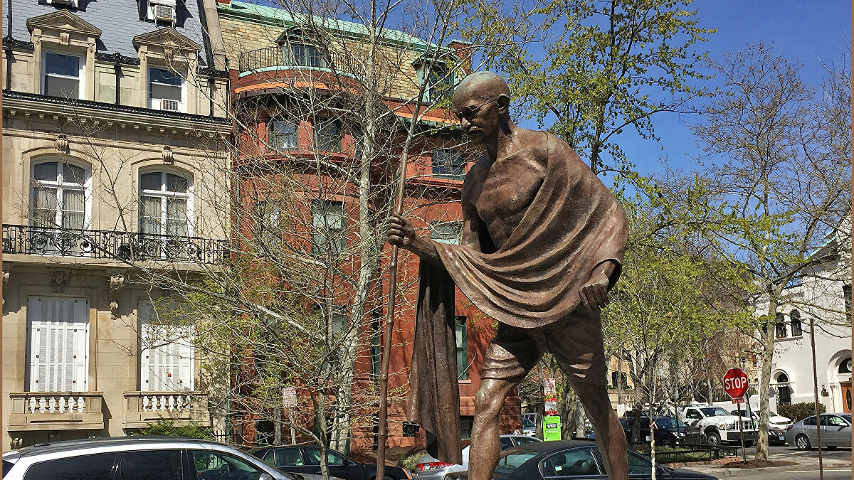 Mahatma Gandhi Statue At Indian Embassy In The US Vandalized