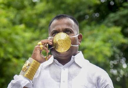 Coronavirus Face Mask For The Wealthy - Indian Man Gets Golden Mask Worth $4000